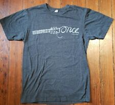 OFFICIAL ONCE PROMO T-SHIRT - WEST END LONDON BROADWAY TONY BEST MUSICAL SHOW