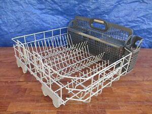 KitchenAid KUDS01FLSS3 Dishwasher Bottom Rack W10728159 & Silverware Baskets