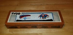 Vintage Tyco HO Scale Superman DC Comics Box Car 368-A In Original Box