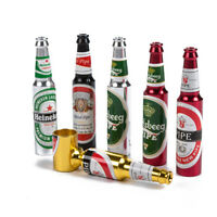 Mini Beer Bottle Pattern Smoke Metal Pipes Portable Creative Smoking Herb Pipe