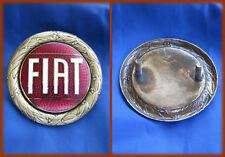 FIAT 124 SPIDER - Logo Skript Emblem 57MM goldene Rahmen