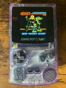 Atomic Purple Nintendo Game Boy Color w/ Funny Playing IPS v2 Screen Mod