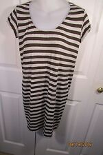 Vince dress, extra small, rayon, short, brown and grey striped