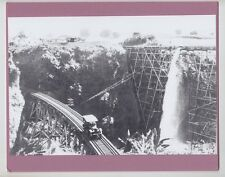 "LAUPAHOEHOE TRESTLE BIG ISLAND 1920's  SILVER HALIDE PHOTO ON 8x10"" PINK MAT"