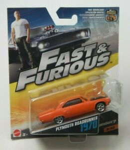 Fast & Furious 1970 Plymouth Roadrunner 2/32 Furious 7 Mattel Series