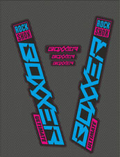 RockShox BOXXER FORK Ultimate Stickers Decals Graphics Mountain Bike blue pink