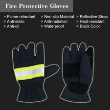 1 Pair Heat Resistant Firefighting Fireman Gloves F0l6 Protective Hand Safety