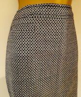 Boden Wool Pencil Skirt Sz 14L Vgc! Black White Winter Business