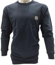 Carhartt Men's K126 - Long Sleeve Workwear Crewneck T-Shirt - Multiple Colors
