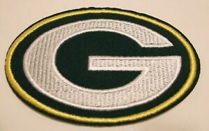 """Green Bay Packers Embroidered Applique Helmet PATCH~3 5/8"""" x 2 1/2""""~Iron Sew On"""