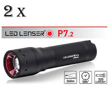 LED LENSER P7.2 320 Lumens TWIN PACK TORCH FLASHLIGHT Retail Box US