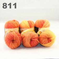 Sale Lot of 6Ballsx50g New Chunky Hand-woven Colors Knitting Scores wool yarn 11