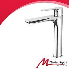 Hoch  Waschtischarmatur chrom Bad Armatur einhebelmischer Wasserhahn Chrom Neu!