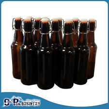 500ml Amber Beer Flip Top Bottle X 12, Swing Top, Robobrew/Grainfather/Kombucha