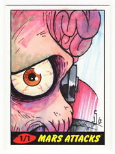 2012 TOPPS MARS ATTACKS HERITAGE 50th Anniversary Jamie Snell 1/1 Sketch Card