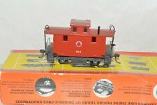 HO scale Mantua Lehigh & Hudson RR 4 wheel bobber caboose car train w/ KD's