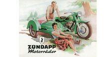 Blechschild 201/351 - Zündapp Motorräder - 8 X 11 cm - Neu
