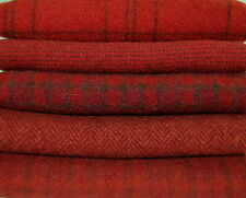 """HAND DYED RUG HOOKING WOOL Mill-Dyed ~ """"GOOD 'OL RED"""""""