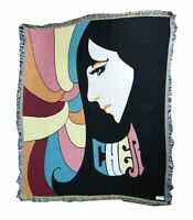 Cher Retro 70s Throwback Image Woven Throw Blanket New Official