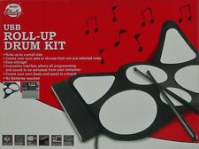 Portable Drum Kit Pad & 2 Drum Sticks Musical Instrument USB and Custom Software