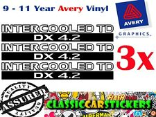 INTERCOOLED TD DX 4.2 Sticker Decal for Nissan Patrol