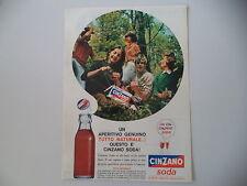 advertising Pubblicità 1963 CINZANO SODA