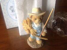 Cherished Teddies Fall Figurine Chester Farmer w Rake and Wheat NIB