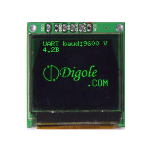 """1.12"""" Serial: UART/I2C/SPI 96x96 Green OLED Display for Arduino/PIC/Pi and more"""