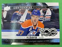2017-18 Upper Deck NHL 100 Centennial Standouts #CS-45 Connor McDavid Oilers