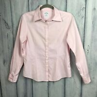 Brooks Brothers 346 Womens Sz 6 Button Down Shirt Supima Cotton Fitted Pink