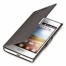 LG OPTIMUS L5 SLIM CUSTODIA FLIP E610 COVER BORSA IPAD Etui Nero