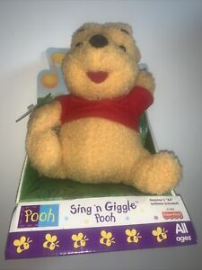 Vintage Mattel 1998 Pooh Sing N Giggle Winnie the Pooh Fisher Price Plush NOS