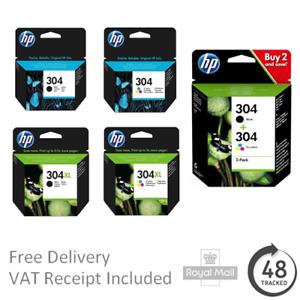 Original HP 304 / 304XL Black / Colour Ink Cartridges for Deskjet 2620 Printers