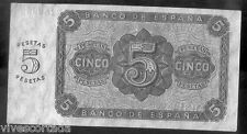 5  Pesetas 10 de Agosto de 1938 Burgos @ Excelente @