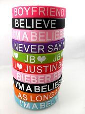 10 X mix JB justin bieber fan girls  Silicone bracelets wristband