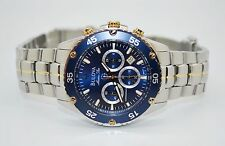 Bulova Marine Star Ref 98H37 Two Tone Stainless Steel Chronograph Men's Watch NR