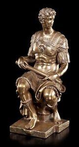 Giuliano de Medici Figur - Michelangelo Veronese Statue Deko bronziert