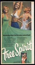 1976 Playtex Free Spirit bra 3 women color photo vintage print ad