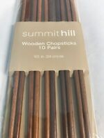 Summithill Wooden Chopsticks 10 Pairs- 9.5 In Ea
