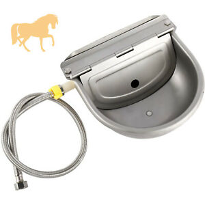 Automatic Water Bowl Farm Grade Waterer For Horses Dogs With Drainage Hole,Pipe