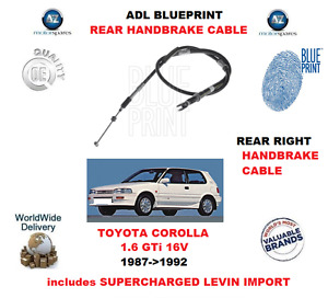 FOR TOYOTA COROLLA LEVIN SUPERCHARED 1987-1992 REAR RIGHT BRAKE CABLE 4642012360