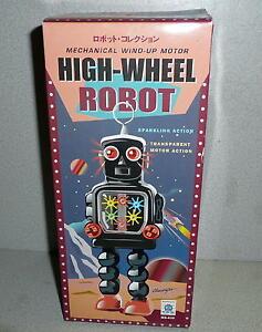Schylling HA HA Toys Mechanical Wind-Up Motor HIGH-WHEEL ROBOT *Unused REMAKE