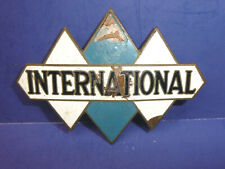 Vintage 1920's INTERNATIONAL Truck Radiator Emblem Three Diamond Badge CT27