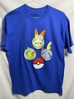 Pokemon 3 Starters T-Shirt - Mens Size L-XL