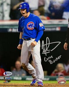 """Albert Almora Jr. Signed 8x10 Cubs World Series Photo """"Curse Buster"""" Beckett BAS"""