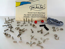 Pekabe Goodie Bag Variety Pack Screws Hooks Bolts Shackles Model Boat Fittings