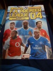 Complete Merlin Premier League Sticker Album 04 2004