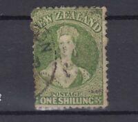 New Zealand QV 1864 1/- Green SG125 Fine Used J7308