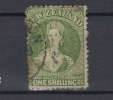 New Zealand QV 1864 1/- Green SG125 Fine Used J7308