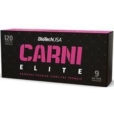 Biotech USA Carni Elite 120 caps L-carnitine HCA CLA FREE WORLD SHIPPING !!!